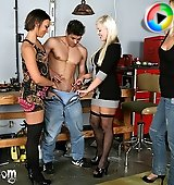College Girls Give Guy CFNM Handjob and Face Smothering