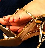 The most desirable blonde mistress with astounding feet looking for fun