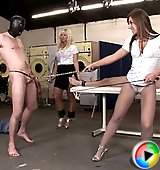 Two kinky british dommes in action