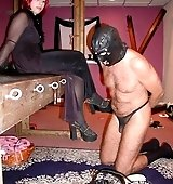 Redhead Mistress and slave